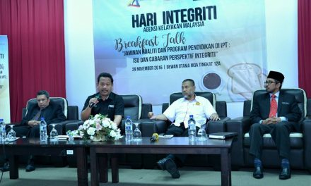 "Integriti Breakfast Talk 9/2016 ""Quality Assurance & University Education Programme: Issues and Challenges through the Perspective of Integrity"""