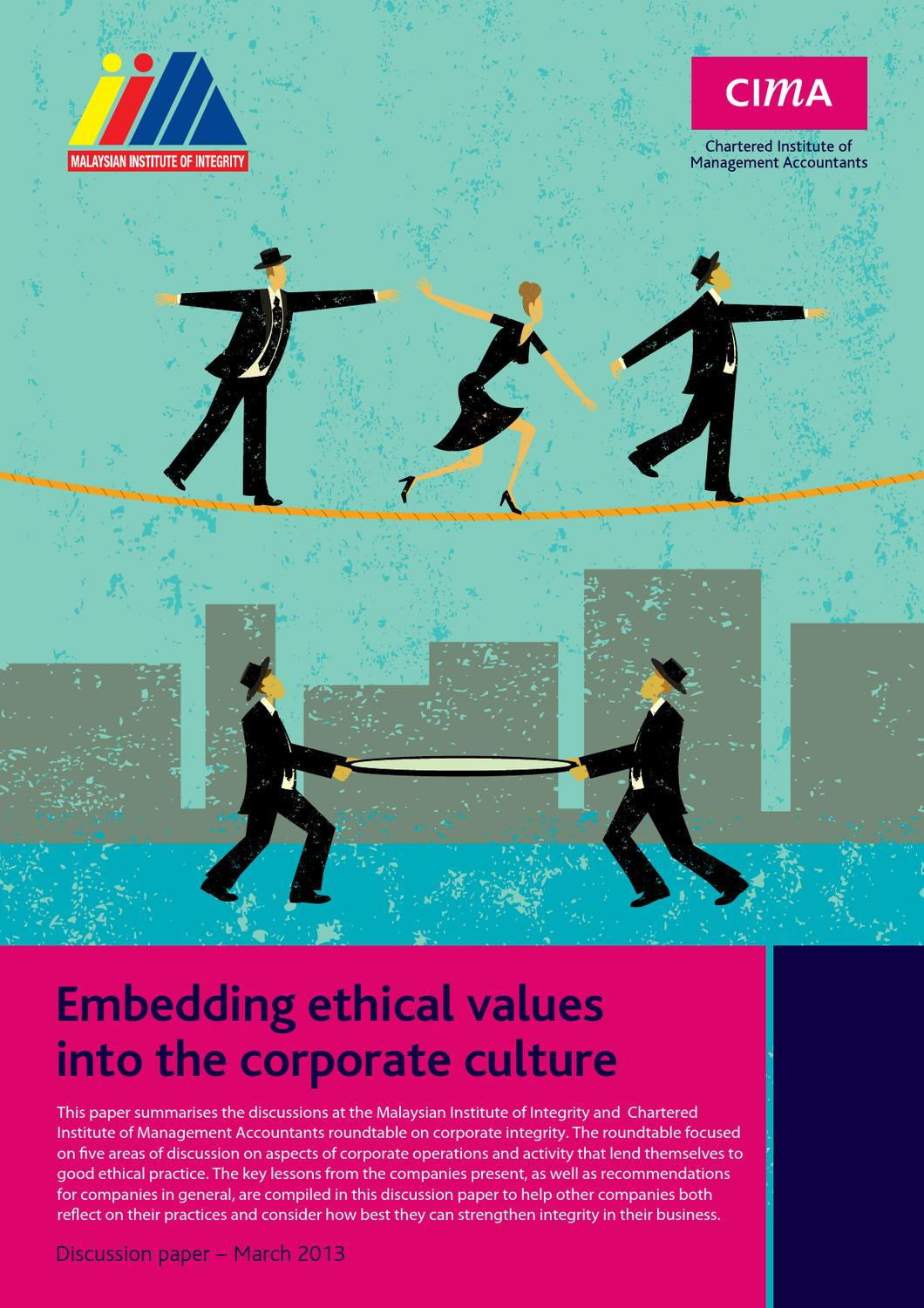 Embedding ethical values into the corporate culture Image